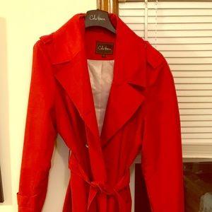 Cole Haan XL windbreaker trench coat w/ hood.